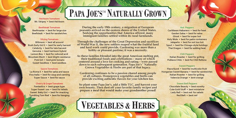 "PAPA JOE'S STORY WITH ""BEST USE"" MESSAGES POP -- 24"" x 48"" -- click to enlarge"
