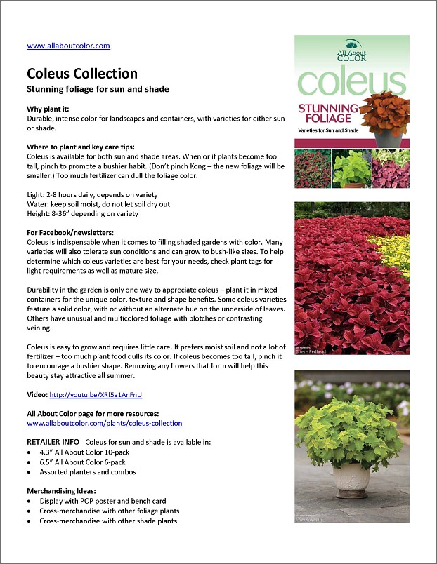 Coleus Collection |  DOC  |  PDF  |