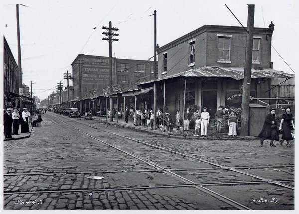 Philadelphia's Italian Market in 1937.