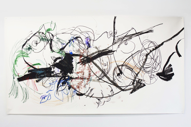 Lia Chavez, Carceri 1, mixed media on paper, 2013