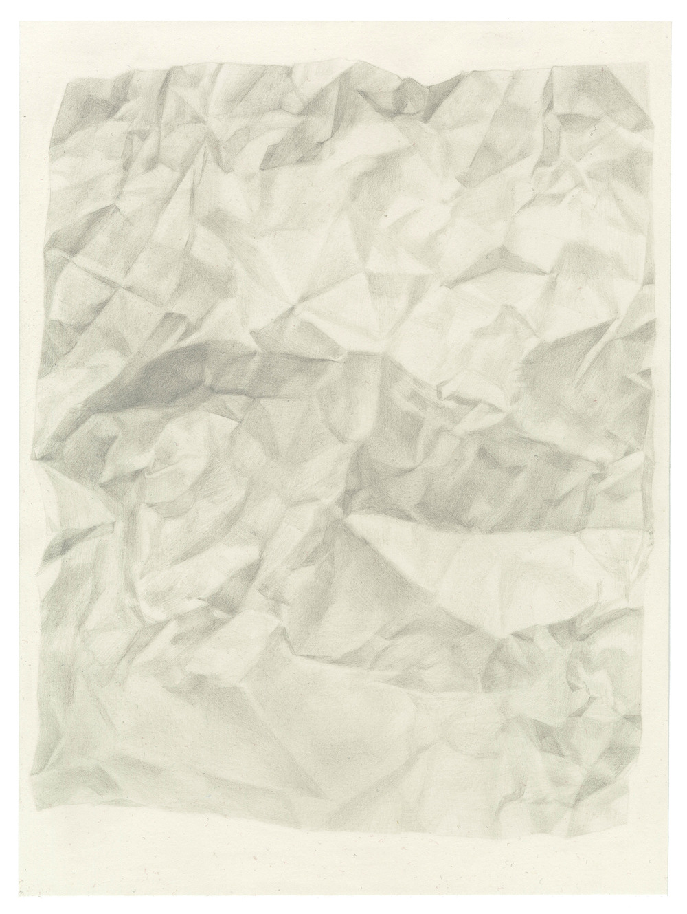 Juliet Jacobson, Untitled Paper Drawing 7, Graphite on Paper, 2013