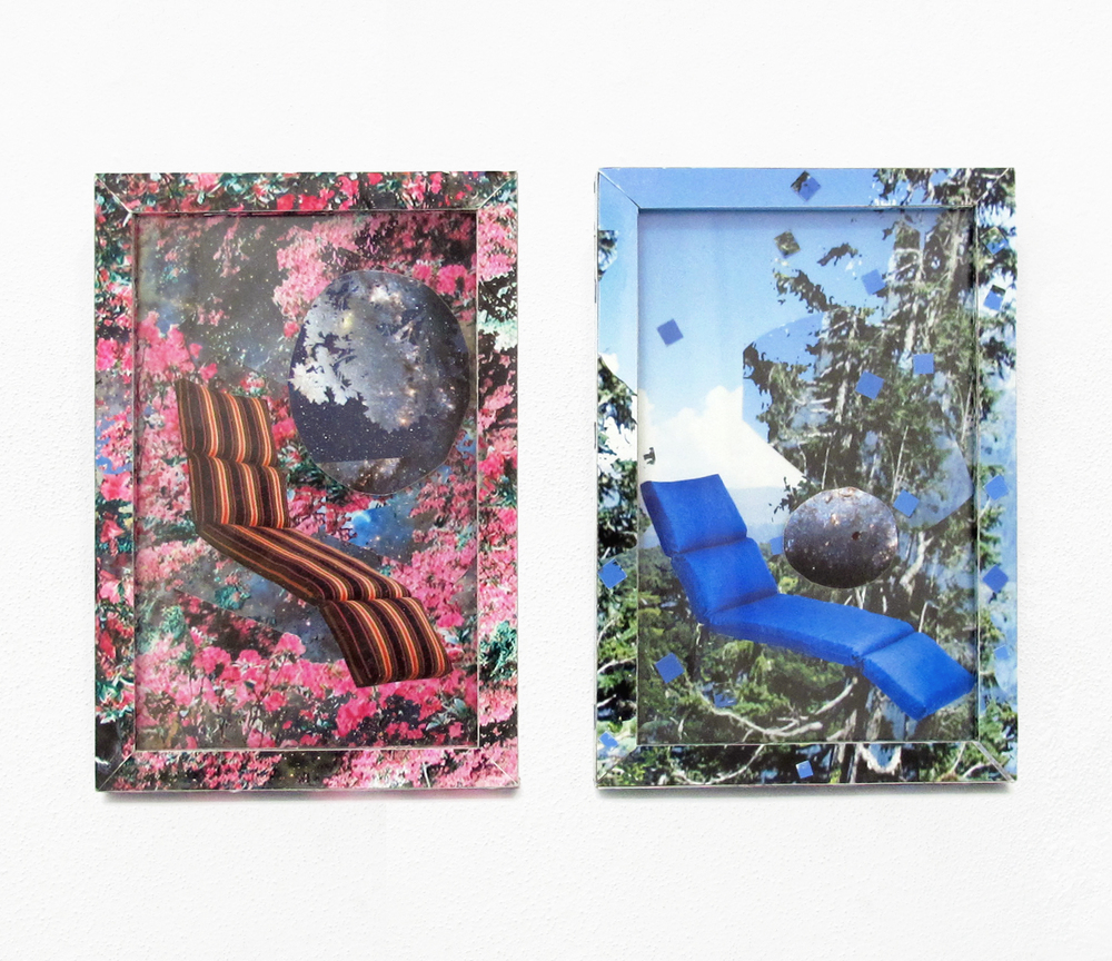 """Chaise Cushion, Select Color #9 #10, 2013 ink jet print, on frame 6 """" x 4 """""""
