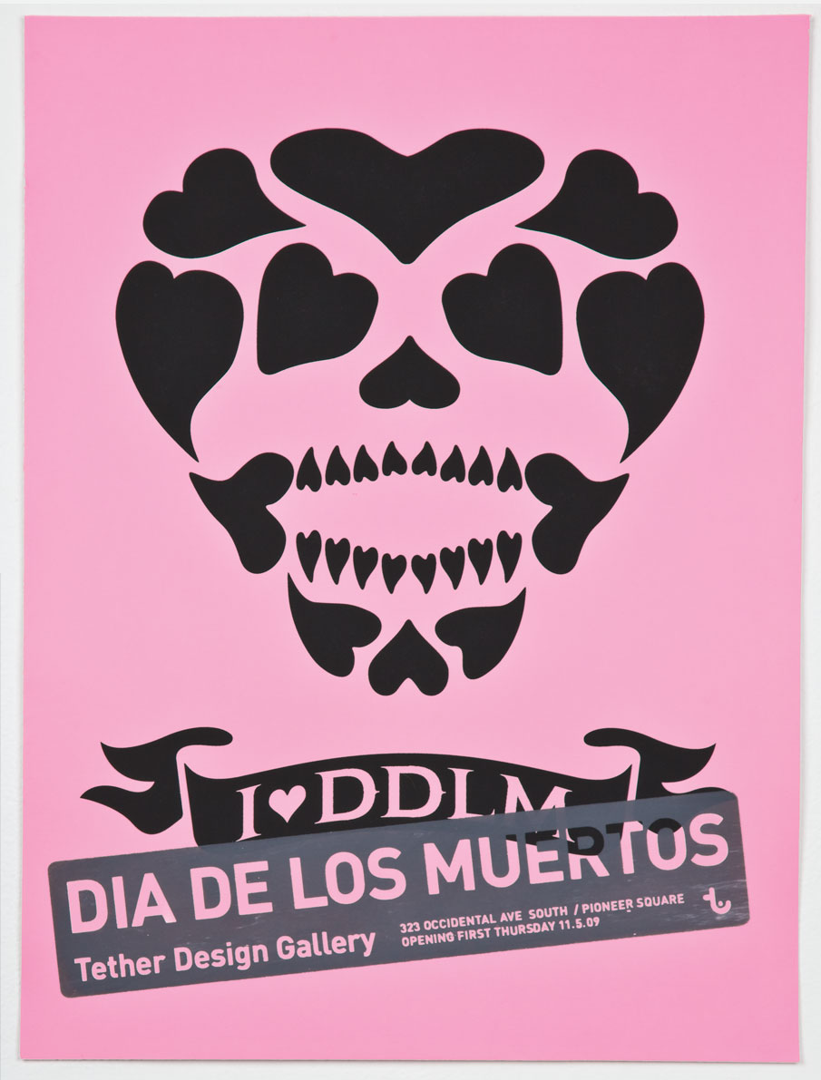 Dia de los muertos poster for Tether Design Gallery