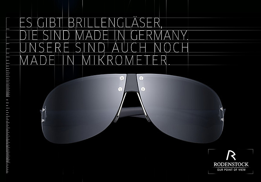 An ad layout of mine I liked for German optical brand, Rodenstock. Not sure if it was ever presented or not.