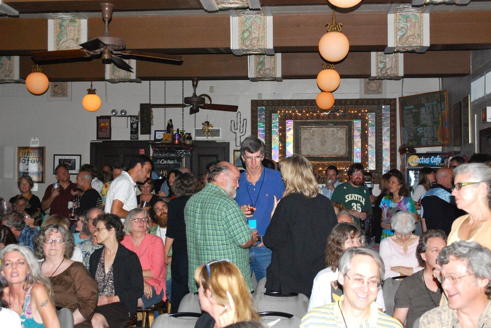 """Patrons gather in the Cactus Cafe at the """"end of the iconic years,"""" August 10, 2010. (2)"""