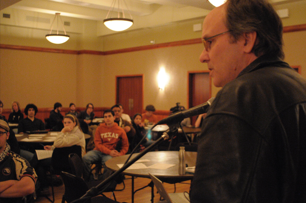 Reid Nelson, building the Save the Cactus movement, a few students at at time, February 17, 2010. (10)