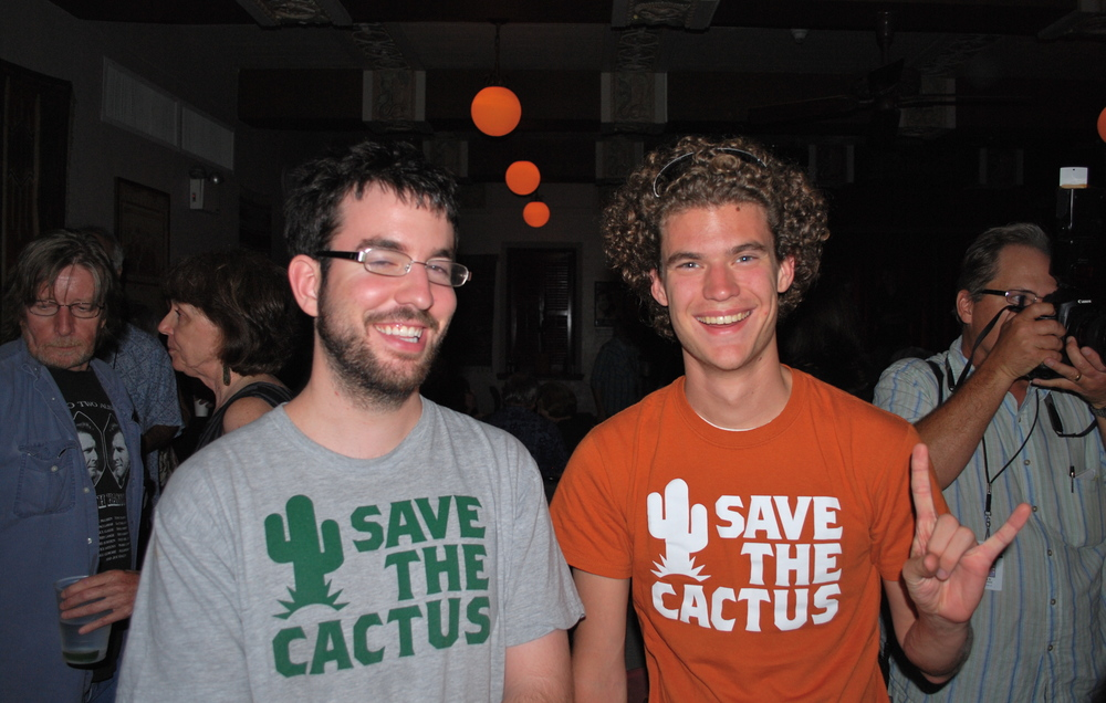 """Zach Bidner and Matt Portillo in the Cactus, at the end of Griff Luneburg's """"iconic years."""" August 2010 (15)"""