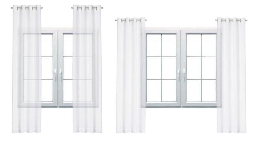 To samo okno może wyglądać zupełnie inaczej w zależności od zawieszenia zasłon!