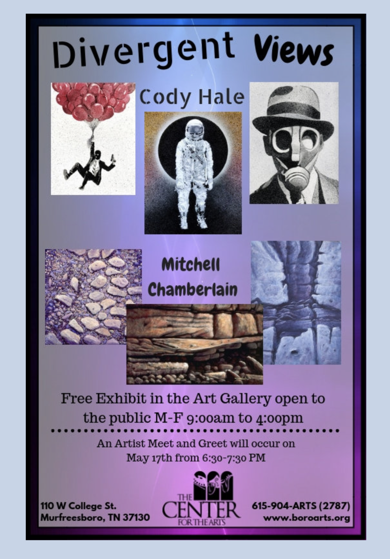 Art Exhibit at The Center For The Arts — Cody Hale Art