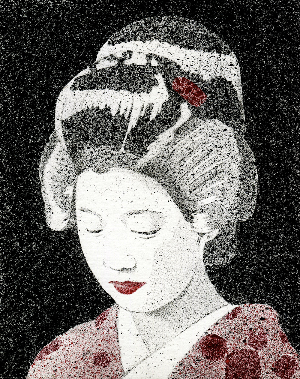 Geisha in Red