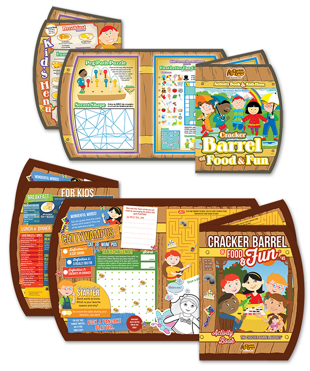 Cracker Barrel's 2016 revamp centred on a character refresh, with a subtle update in overall design. Characters now look more mature and have more detailed features. Games feature more group participation and every issue highlights  different Cracker Barrel merchandise from the Cracker Barrel store.