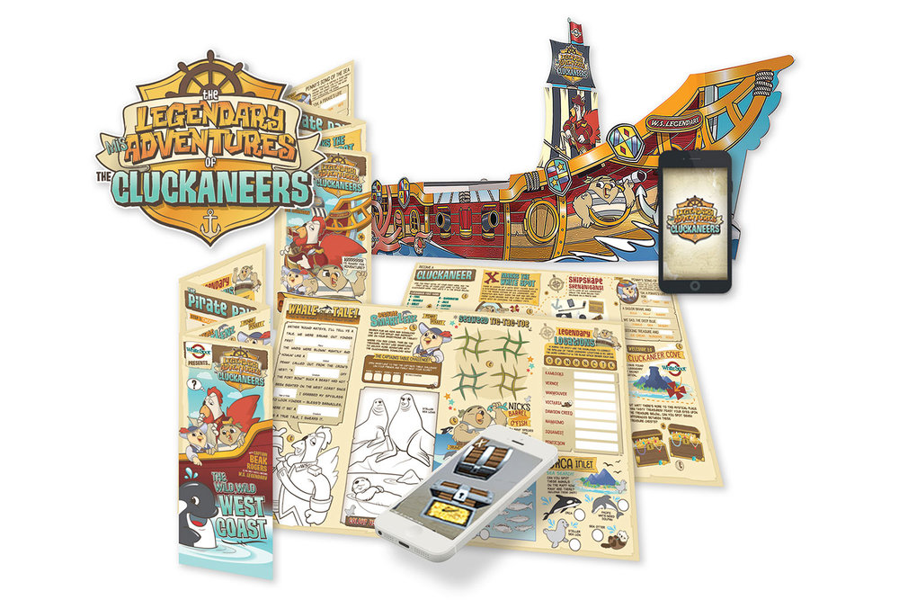 The new activity mat features both traditional and digital interactivity using The Legendary MisAdventures of The Cluckaneers App. The app uses Kidzmart's SmartLenz,a 3D augmented-reality technology.