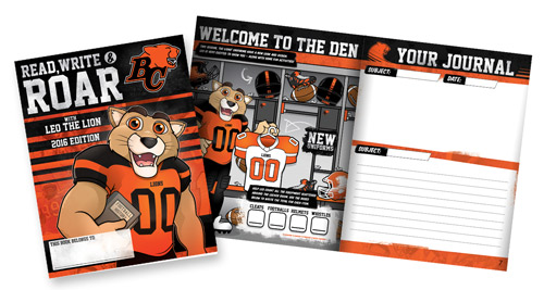 BC Lions Read, Write & ROAR!  program works with schools and classrooms to promote literacy across BC.