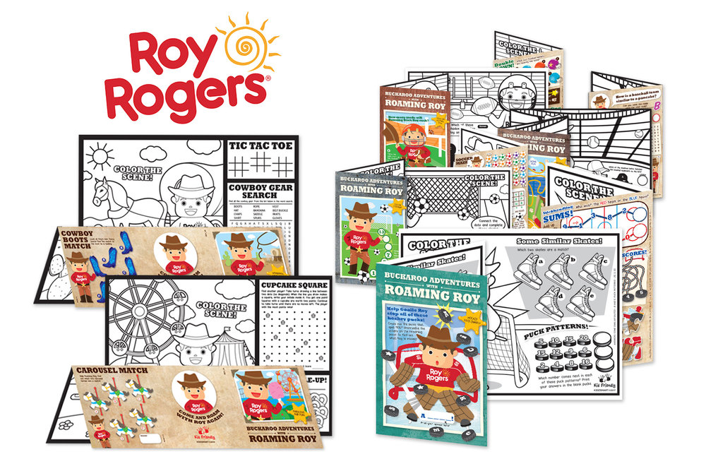 Roy Rogers' activity book: Left - booklet pre-2016, right - new bifold version.