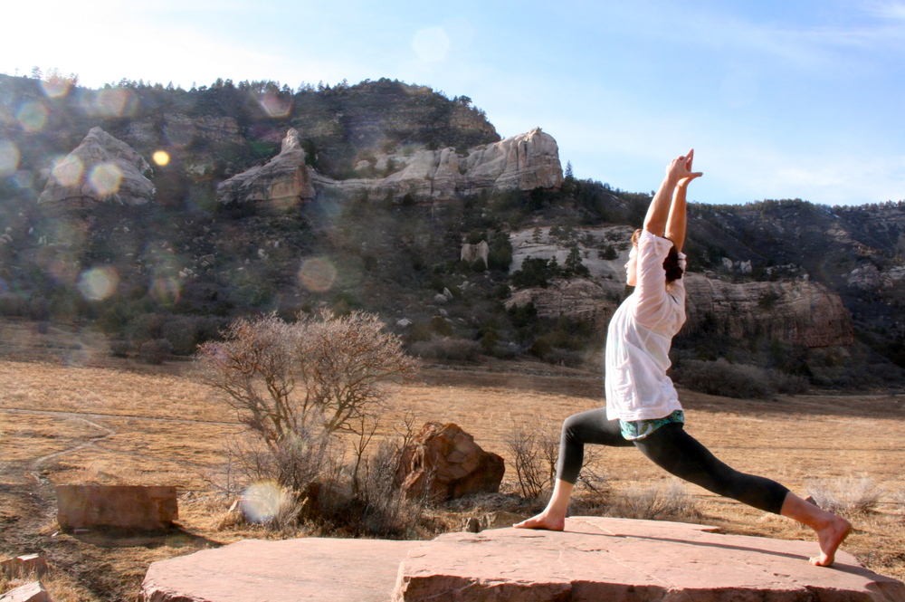 Afternoon yoga in the Turtle Lake Valley.  P  hoto credit: Luna Miller