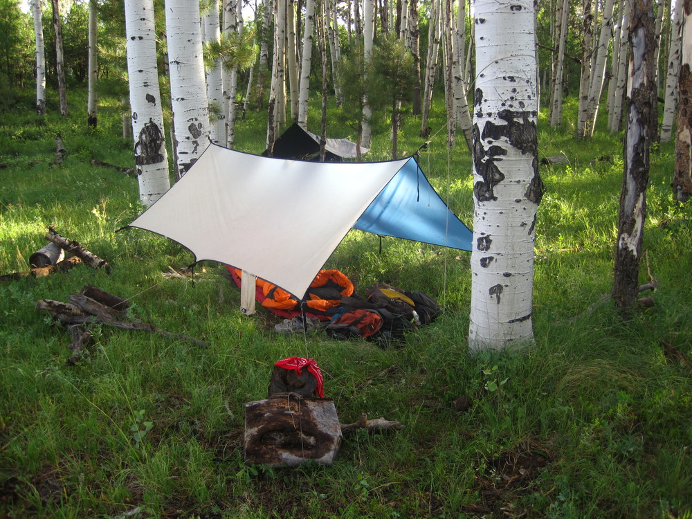 Cozy morning home. Haycamp compartment, San Juan National Forest.