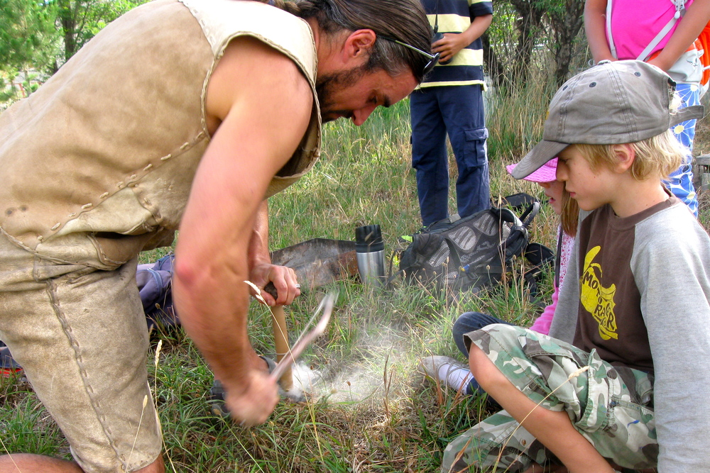 Boys Wilderness Survival Camp   :  Ages 9-12.   Boys learn concrete survival skills and develop their relationship to nature.