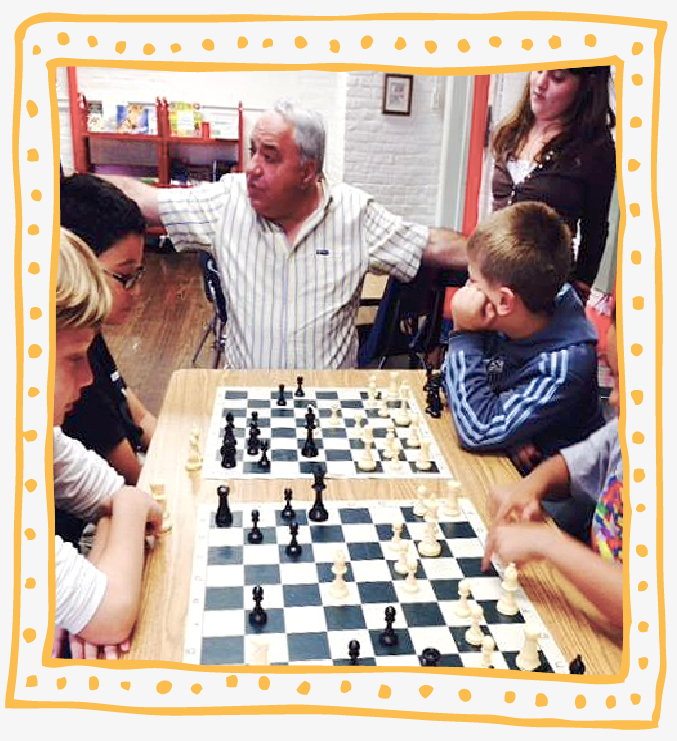 ROLAND YAKOBASHVILI is an internationally ranked Chess Master and former Soviet chess champion. He meets with students Kindergarten and up once a week to teach them the strategy, joy and camaraderie of chess. He also leads our Chess Club, which meets Thursdays after school.
