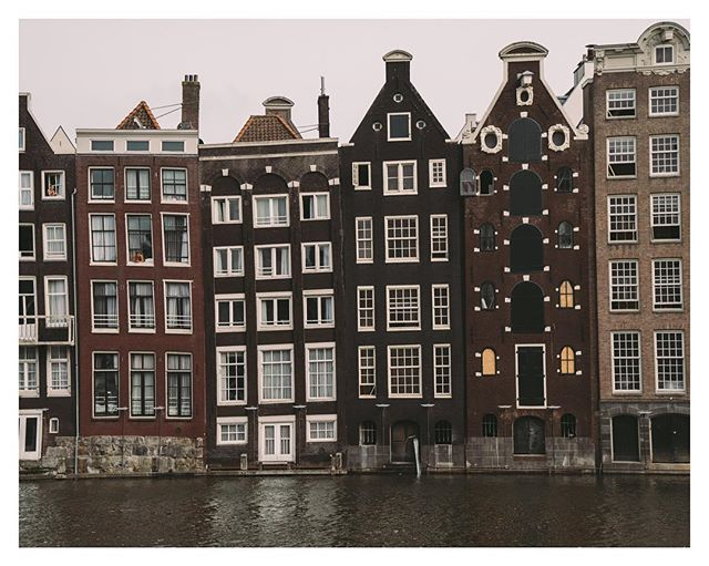 Amsterdam, was built on wooden piles with mud. Over the years the buildings have settled - now iconic!