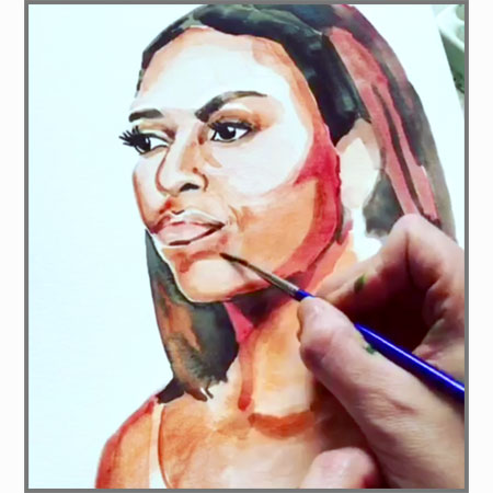 Michelle Obama, in progress