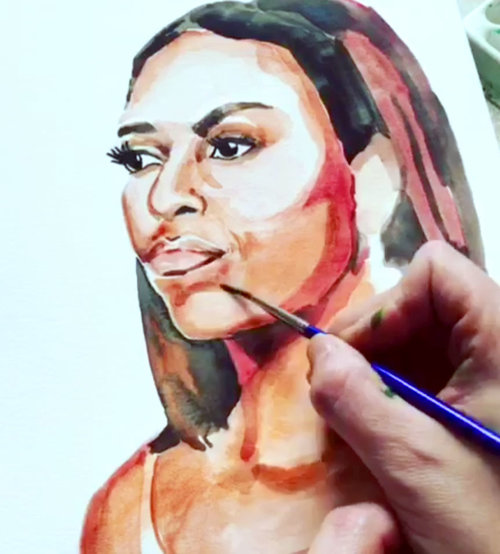 Time Lapse Videos - Watch Abigail at work! In this series of time lapse videos you'll get a glimpse into the artist's process as she creates portraits, florals, patterns and more.