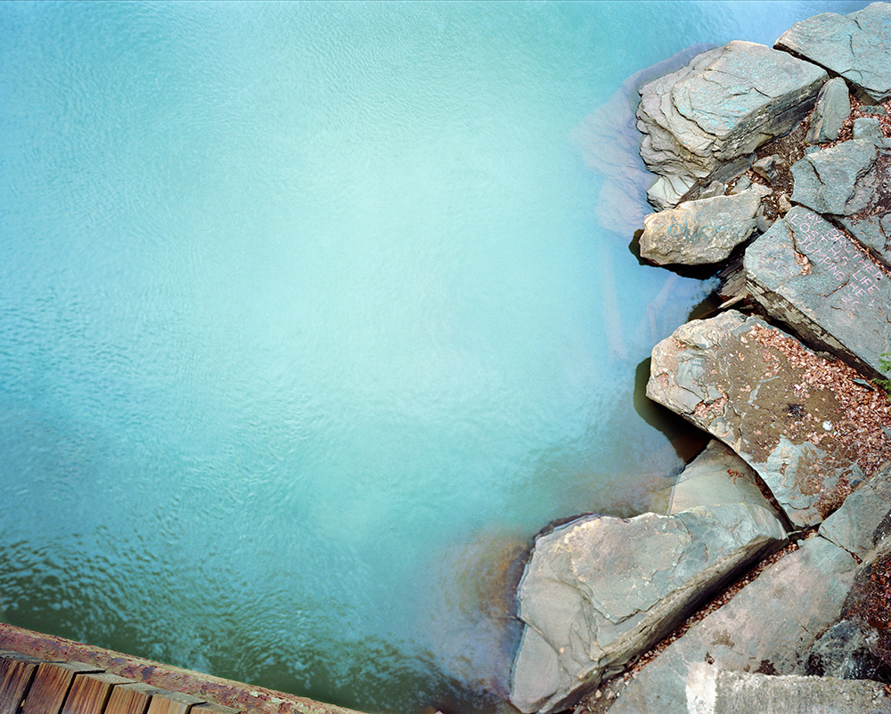 Thank G-d for Mississippi:  Bull Run, WV also called Blue Hole  , 2009   FujiFlex Digital C-Print   55 x 44 Inches