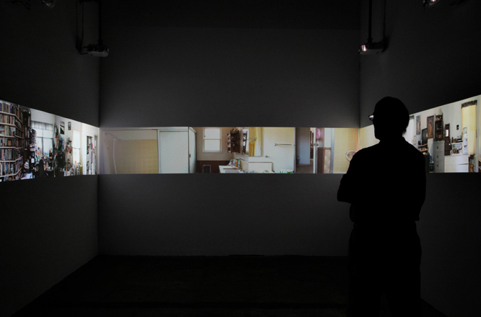 Installation View  (  LAXART, 2010)    Aninut (72 Hours),  2010 5 Channel HD Video Projection, TRT 7:20, Looping Installation Dimensions Variable