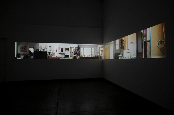 Installation View  (  Room Gallery, 2010)    Aninut (72 Hours),  2010 5 Channel HD Video Projection, TRT 7:20, Looping Installation Dimensions Variable
