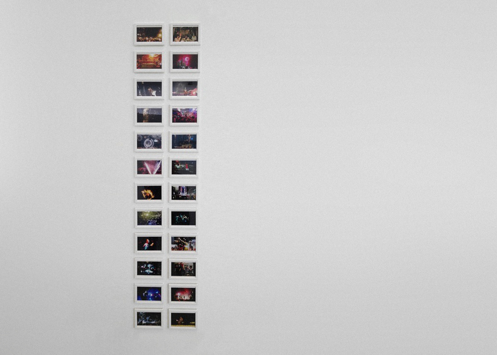 Installation View (Shulamit Gallery, 2014)   Almost Always: 0:00 (Midnight),  2013 Digital C-Prints 24 Video Stills in Series; 4 x 6 Inches
