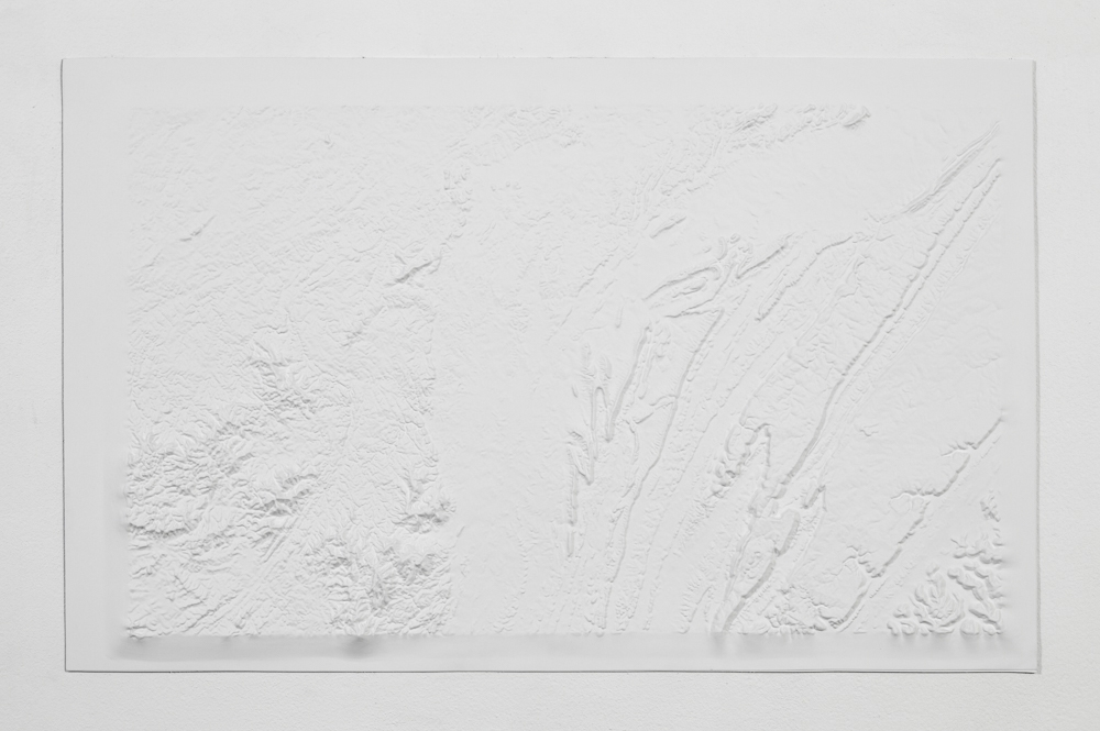 175 million, From the series  Blank Topographies  Preformed resin map, paint 20 X 32 inches