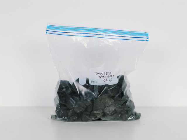 Coal sample from Twisted Gun Golf Club