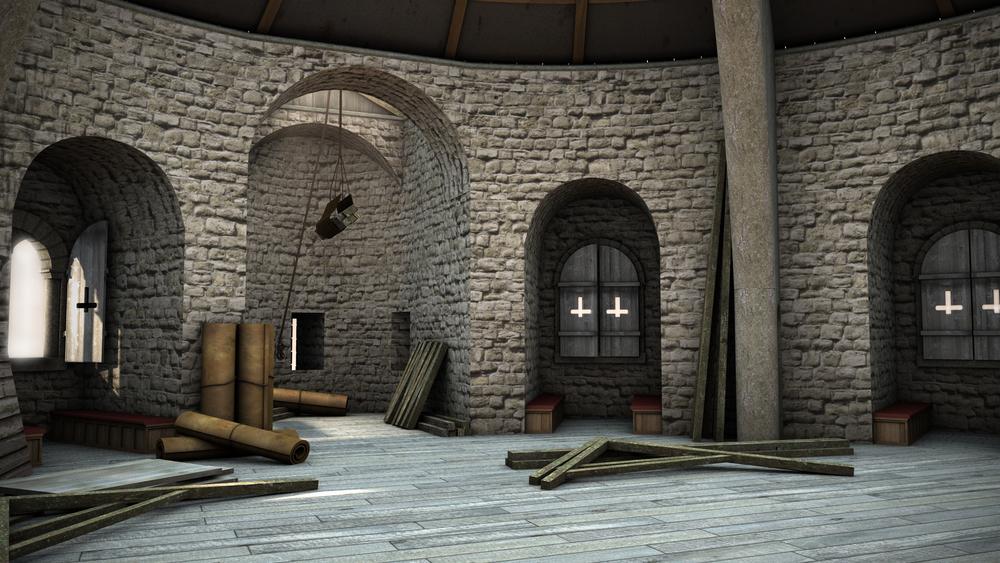 Sandal Castle Keep 2nd Floor