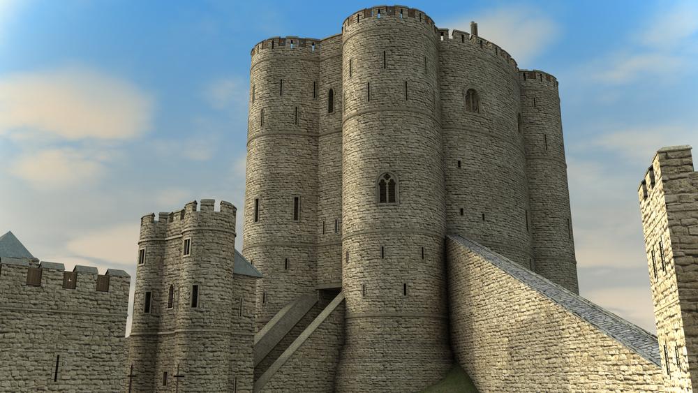 Sandal Castle Keep