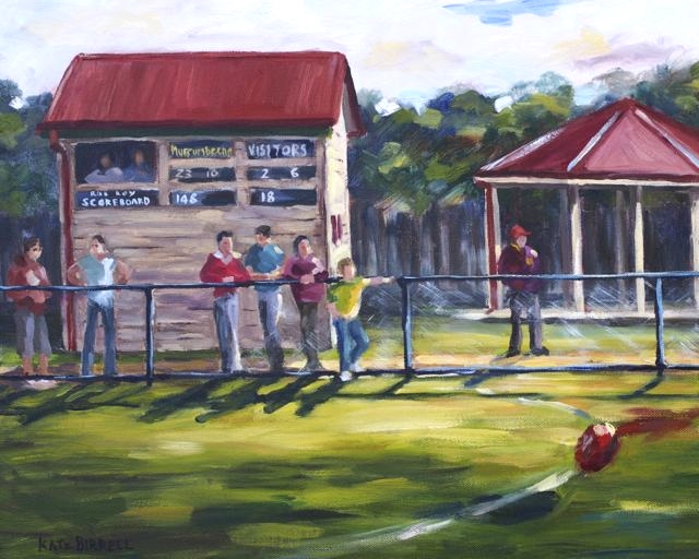Beena Scoreboard    oil on canvas    $395