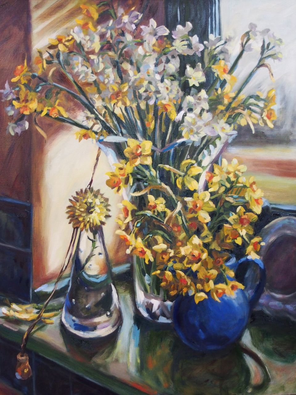 Still Life with Jonquils and one Chrysantheneum