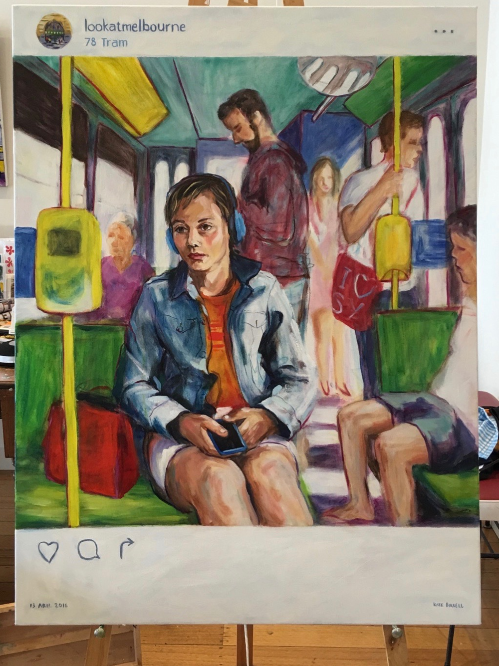Tram Life 2016 Art Town entry oil on canvas 90cm W x 120cm H