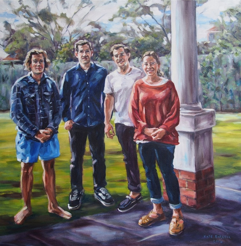 Family Portrait, back veranda