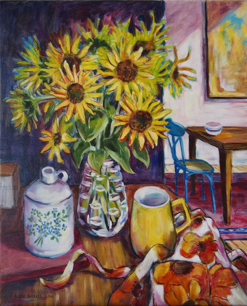Sunflowers with Apron and Other Things