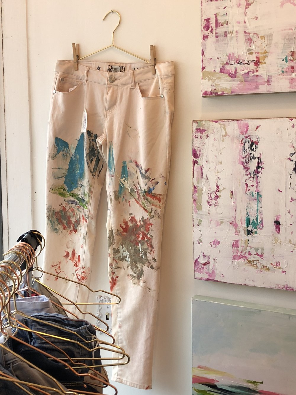Painted Jeans by Christi Arnette