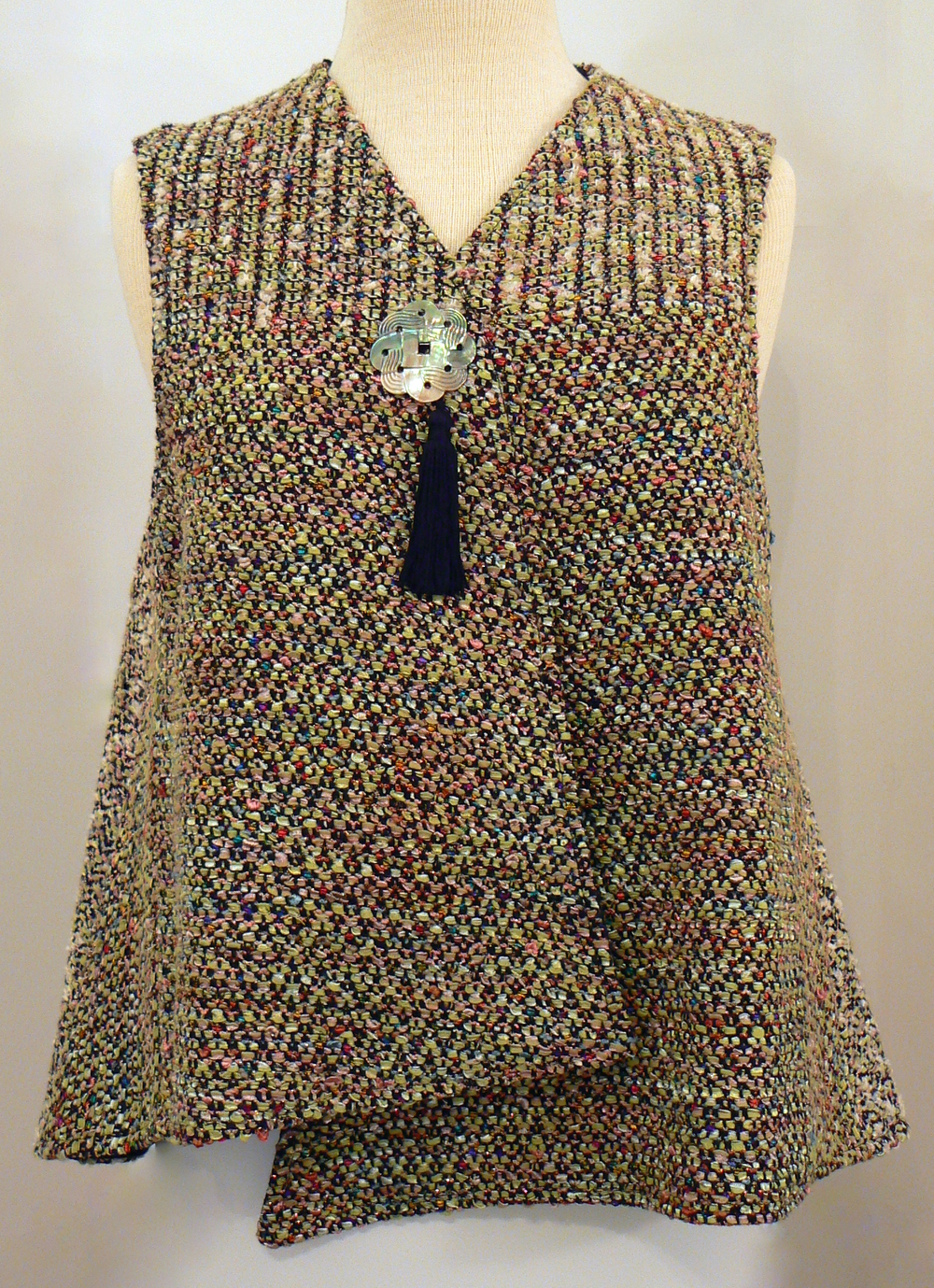 Handwoven Clothing, Vest, Kathleen Weir-West, 10-001.JPG