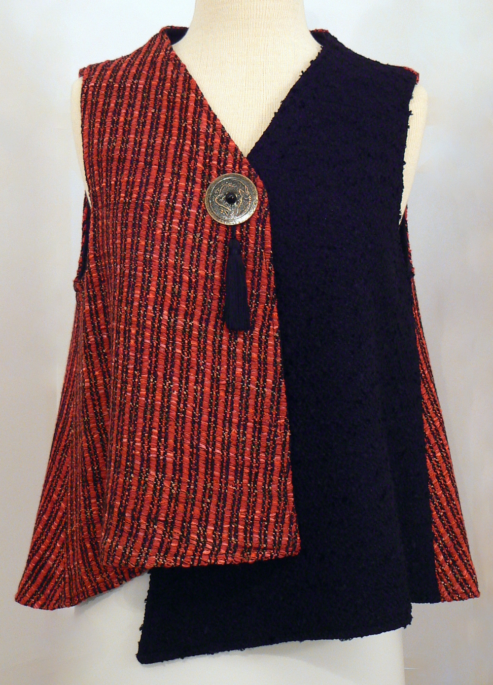 Handwoven Clothing, Vest, Kathleen Weir-West, 34-001.JPG