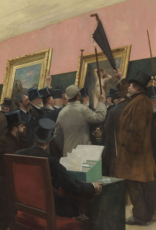 Henri Gervex , A Session of the Painting Jury , c. 1883 (detail)