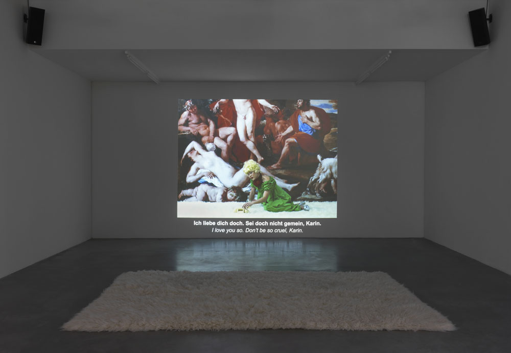 Ming Wong / The Island of Lost Souls:  Teach German with Petra von Kant , 2017, Video, Exhibition View  Up And Down , Maschinenhaus (Power House) M1, Photo: Jens Ziehe, 2017