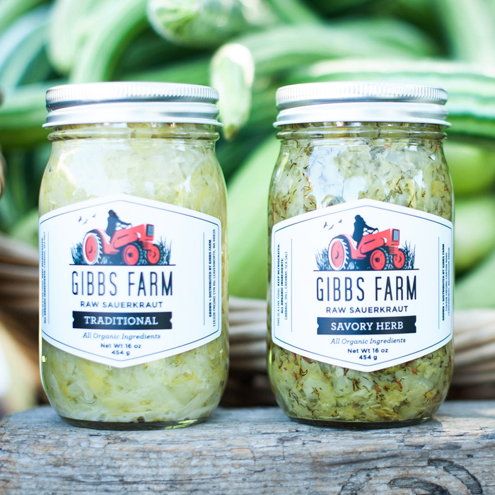 <strong>GIBBS FARM</strong> <br> — <br> New Identity<br> Labels + Signage