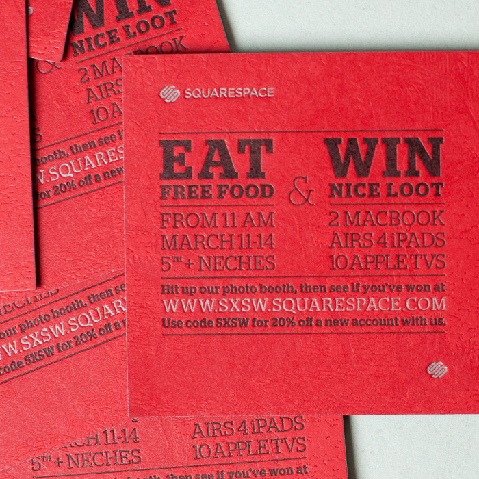 <strong>SQUARESPACE</strong> <br> — <br>SXSW Food Truck