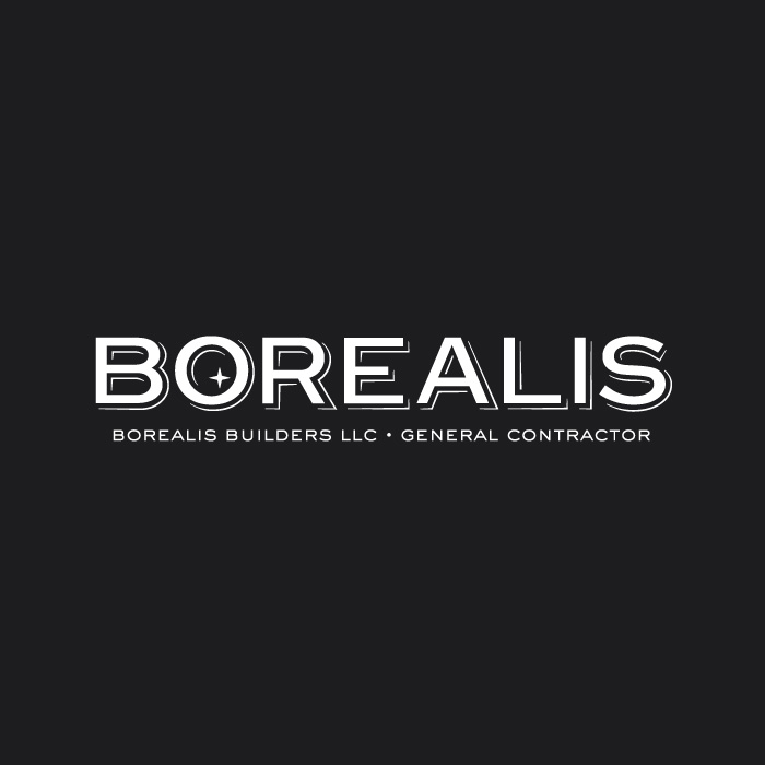 <strong>BOREALIS BUILDERS</strong> <br> — <br>New Identity<br>Website + Signage