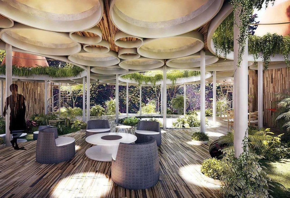 Canopia is a series of enclosed terraces that meld living spaces with nature. (Courtesy of Studio Saxe)