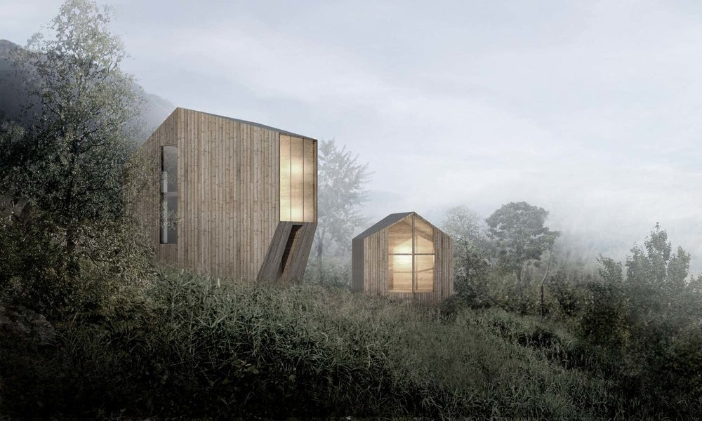 Røldal Cabin.(Courtesy of Reiulf Ramstad Architects)