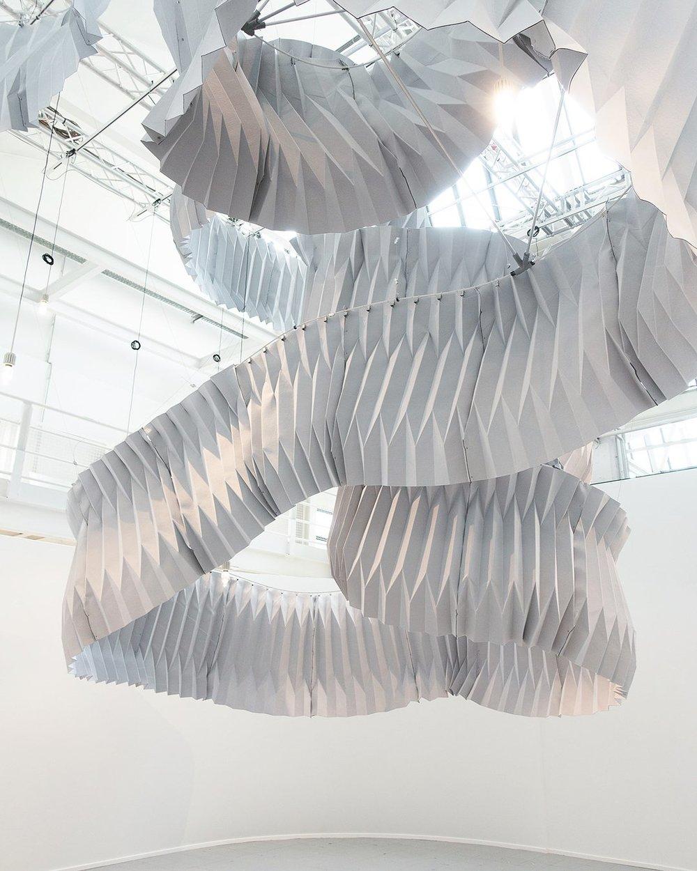 Installation at Milan Design Week 2018. (Courtesy of Kengo Kuma and Associates)