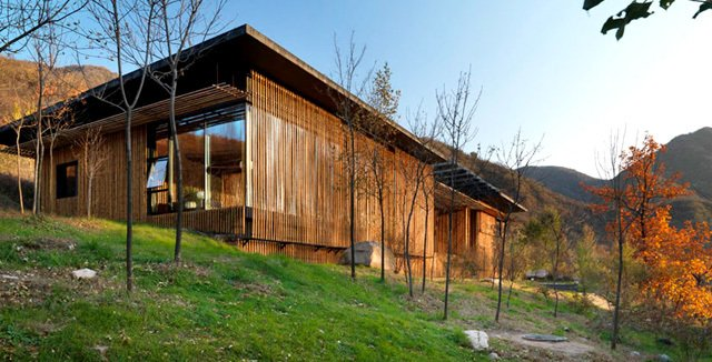 Bamboo Wall House in China. (Courtesy of Commune by the Great Wall)